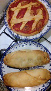 Pizza di pasta dura e Calzoni ripieni