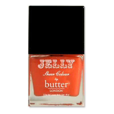 Butter London Jelly in Chuffed cool cantaloupe that becomes more of an iced tangerine with each coat