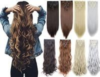Real Thick Curly Straight Full Head Clip in - 7pcs, 16 Clips 23-24 Inch