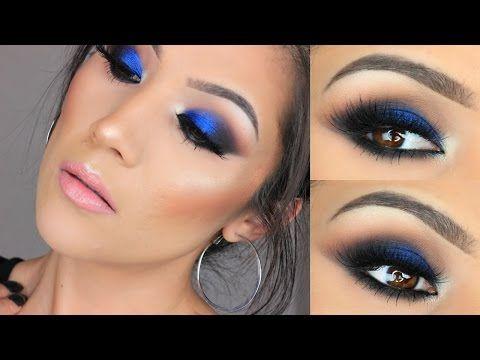 Bold Blue Eye Makeup I Urban Decay X Gwen Stefani Palette - YouTube