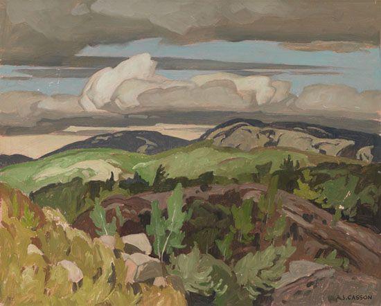"""""""Cloche Hills,"""" Alfred Joseph (A.J.) Casson, oil on board, 12 x 15"""", private collection."""