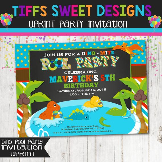 18 best Pool Party Invitations images on Pinterest Pool party - pool party invitation
