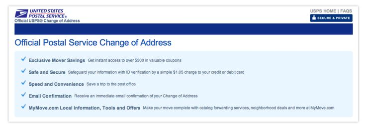 When you move you need to change your address with the United ...