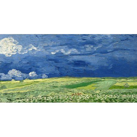 Reprodukcje obrazów Vincent van Gogh Wheatfield under thunder clouds - Fedkolor