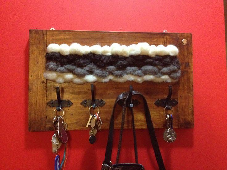 Perchero vellón lana de oveja natural
