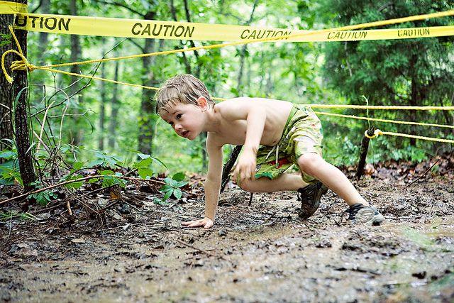 mud run birthday party for boys