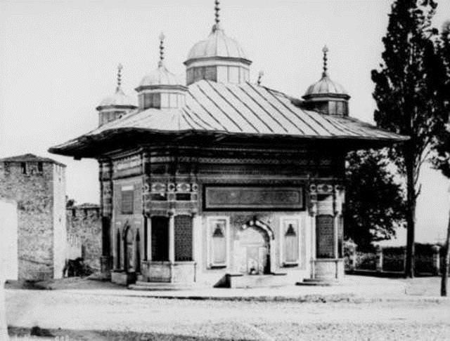Taksim civarındaki çeşmenin resm-i küşadı (açılışı), 1902