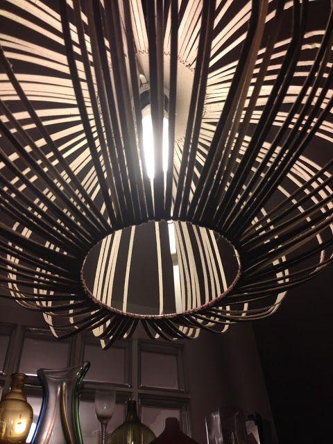 DIY MINI PROJEKTY: Mininávod na recy lustr ze stínidla z IKEA, ikea hack, recy light, lighting, chandelier