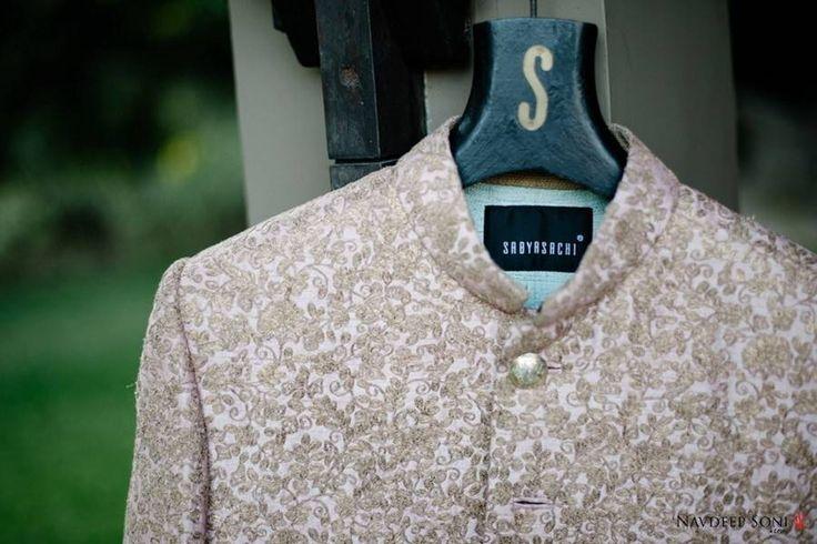 Intricately woven Sherwani from ace designer Sabyasachi.