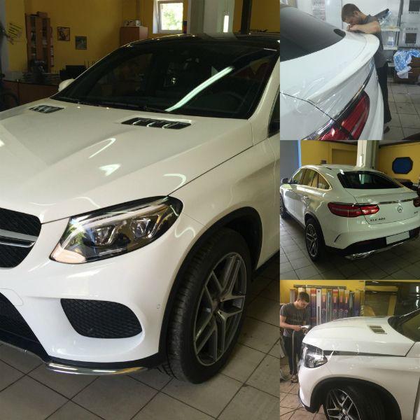 Mercedes-Banz. Бронирование кузова автомобиля защитной плёнкой KPMF. http://www.chescar.ru/