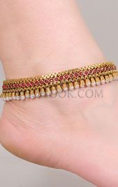 Indian Bridal Anklets Indian Anklets Designs Traditional Indian Anklets