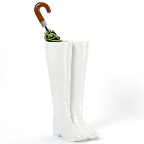 Want this umbrella holder for the entry way!!  $79.95 - Considering my love of boots, this is appropriate :)
