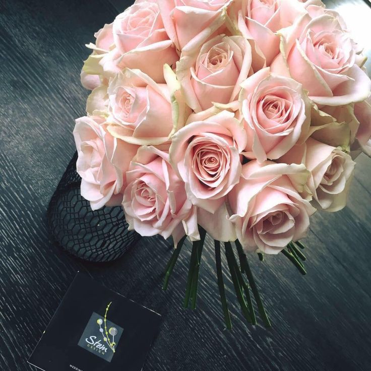 Beautiful pale pink roses Www.thelythamweddingcompany.co.uk