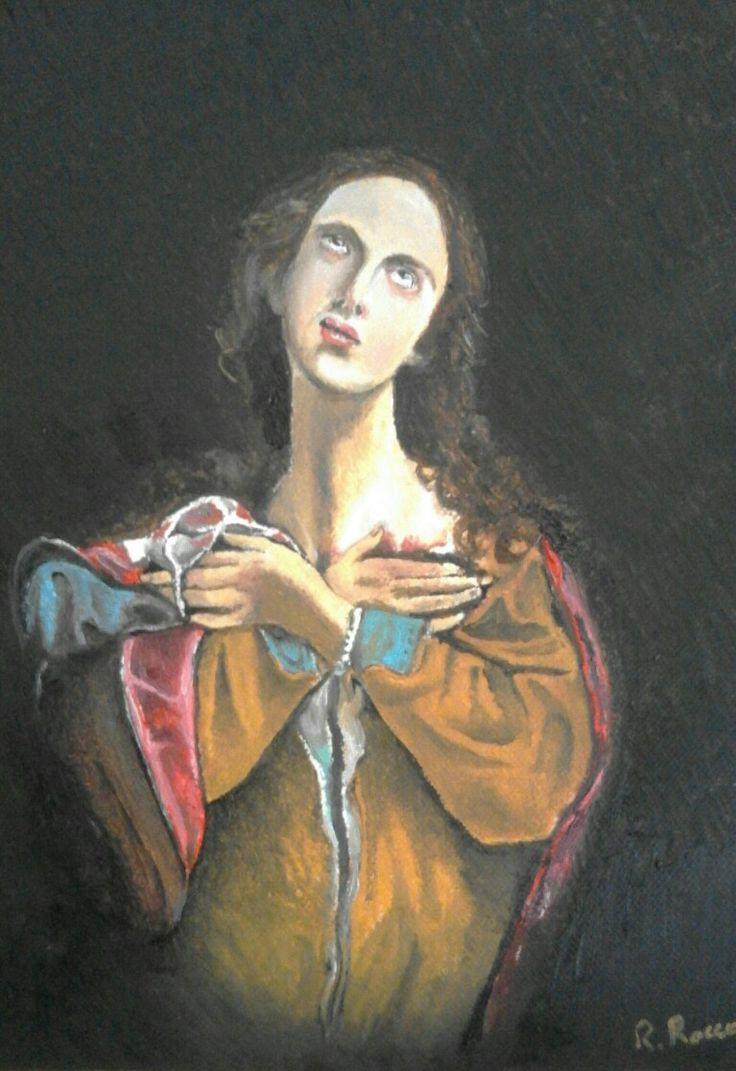Il martirio di Sant'Agata.. olio su tela 35x25