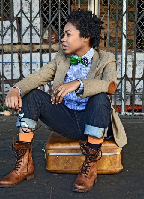 Masculine feminine style....!!! The Marimacho™ aesthetic incorporates elements of dandyism, urban subculture and vintage sophistication. Long gone are the fashion stereotypes of the tragically unstylish masculine women; the modern queer aesthetic is dapper, edgy and unapologetically sexy. This is Marimacho's inspiration.