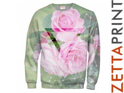 RÓŻA KWIAT Flower Bluza Full Print 3D AMO_RD0010