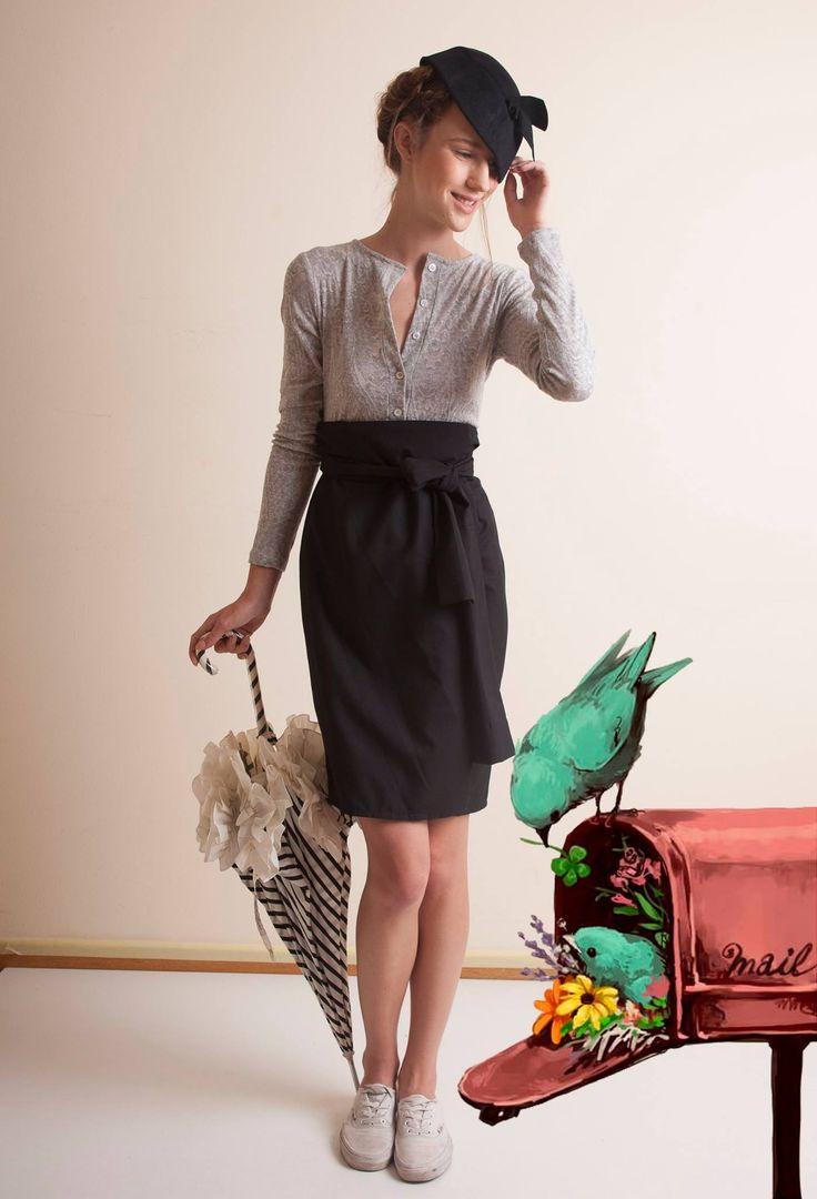 Wear clothes that will make you feel chic & comfortable! Nicola Porpora *Body* & Francois Bouvard *Skirt*