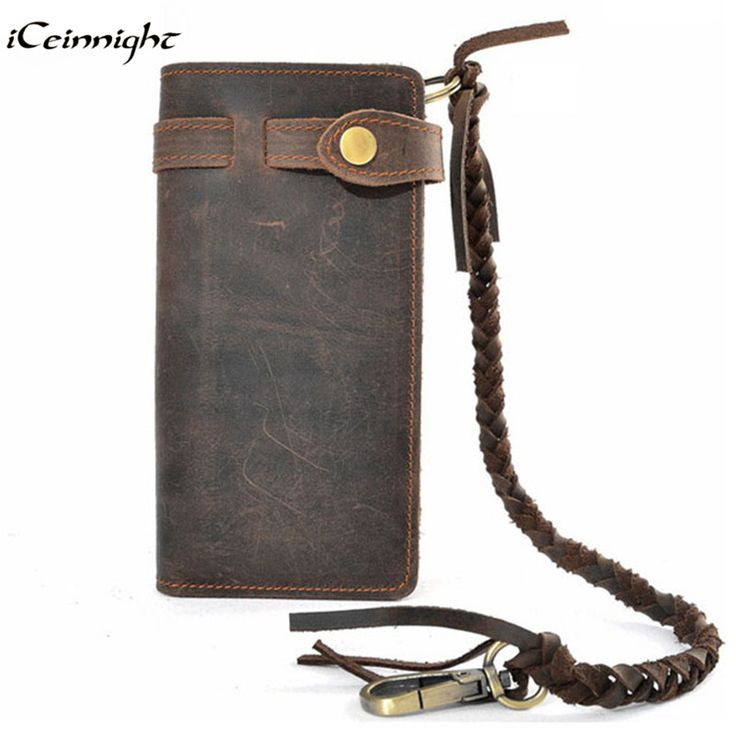 iCeinnight luxury real men 100% genuine leather wallet; purses long vintage mens wallet leather genuine wallet man coin pocket #CLICK! #clothing, #shoes, #jewelry, #women, #men, #hats