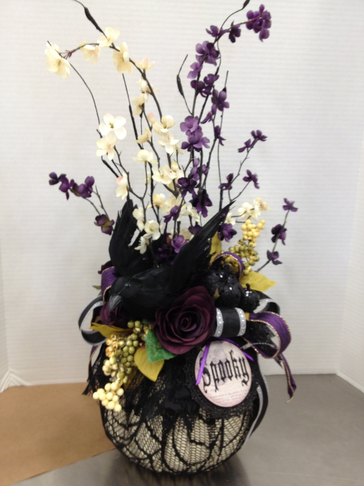this is a part of my halloween high end look black purple - High End Halloween Decorations