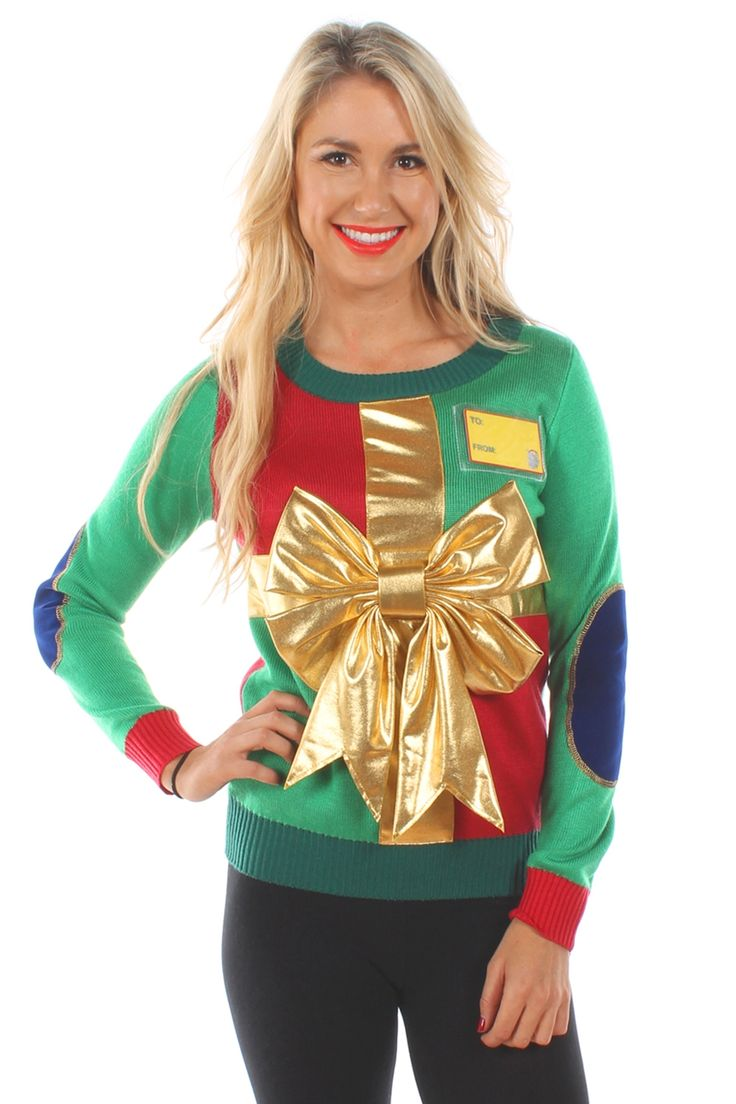 Women's Christmas Present Sweater | Tipsy Elves