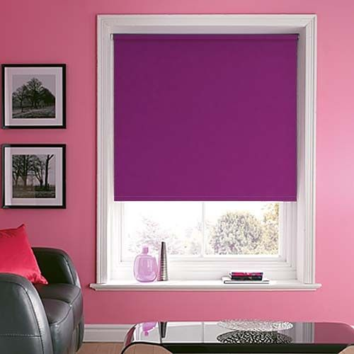 Purple Roller Blinds - Elegant Purple Roller Blind