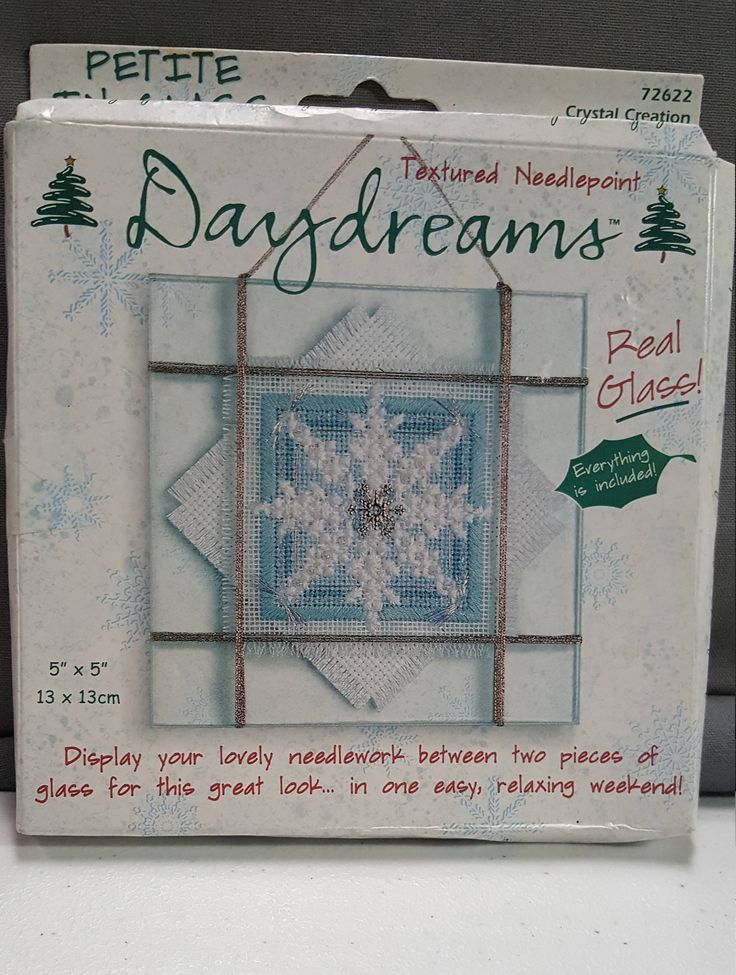 DIY Dimensions Cross stitch kit-Daydreams holiday cross stitch kit Petite in glass! New Cross stitch kit-in package-needlepoint kit-holiday by AmourFabriQues on Etsy
