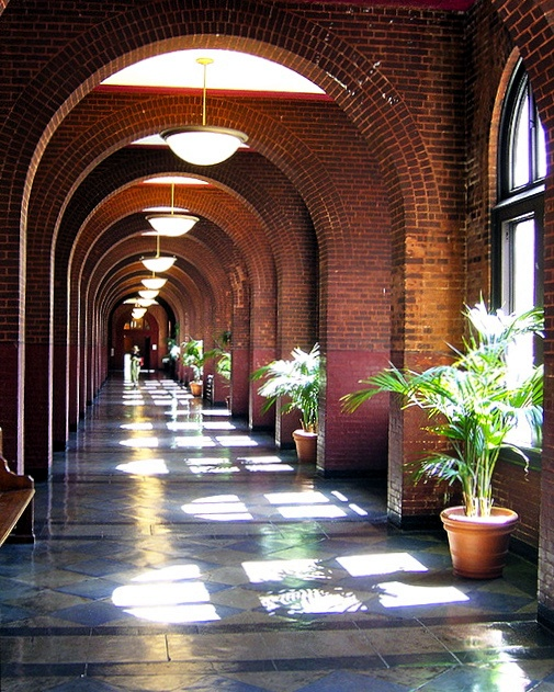 Hallway in Healy Hall, Georgetown University