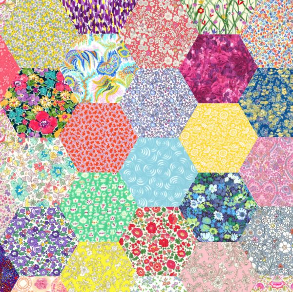 1 inch Liberty pre-cut hexagons - perfect for English paper Piecing