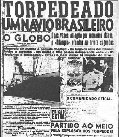 Brasil atacado pela Alemanha Nazista