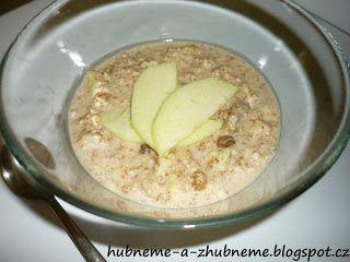 Dobroty od Adele :): Ovesná kaše s jablíčkem bez mléka (268 kcal)