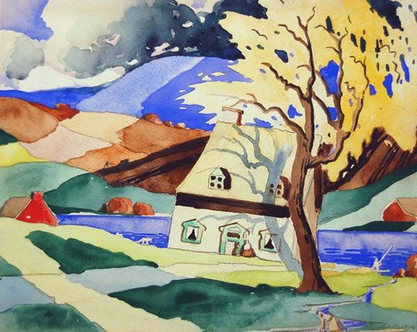 Saint-Urbain (c.1924) - Marc-Aurèle Fortin