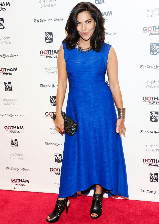 Actress Sarita Choudhury arrives at the 23rd Annual Gotham Independent Film Awards. #Fashion #Style #Beauty #Hollywood