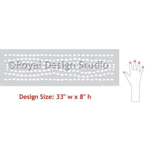 Border Stencils | Sonic Border Stencils | Royal Design Studio