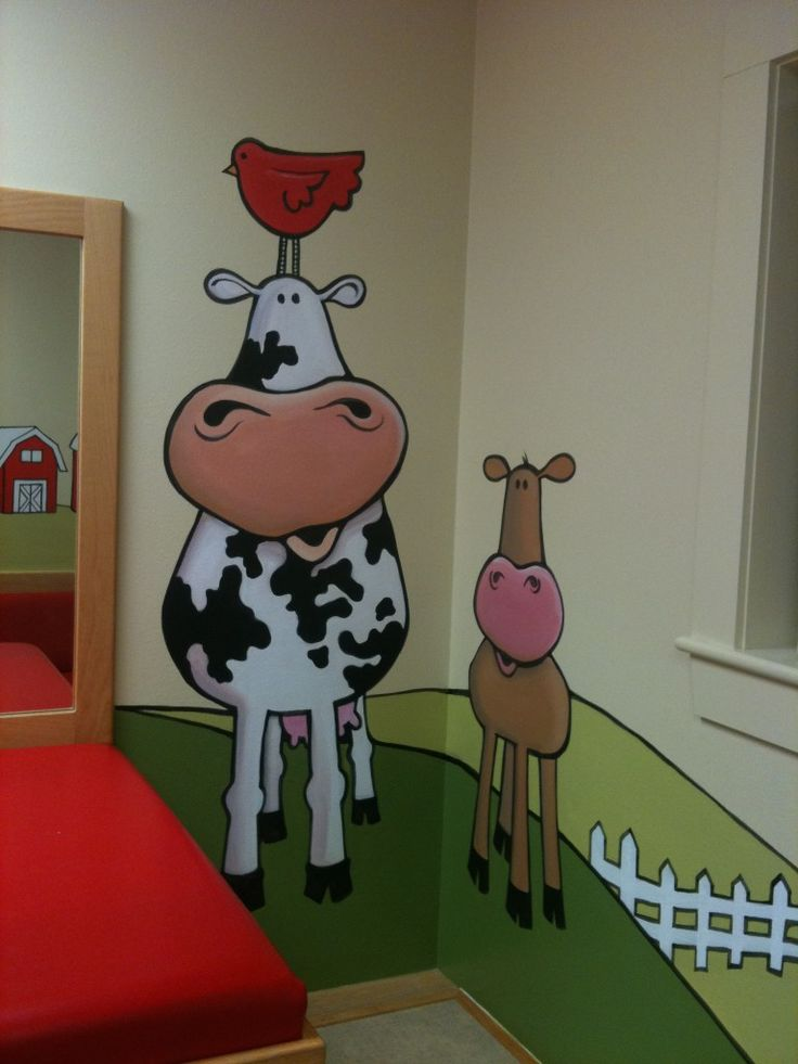 Pediatricianu0027s Farm Theme, Painted By Paula Litchfield. Paula Is The Owner  And Muralist For
