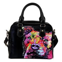 Pit Bull Series III Shoulder Handbags $159.99 - $44.99 Pit Bull Series III Shoulder Handbags  Do you love Pit Bulls? Then these custom designed Premium Shoulder Bags are a MUST HAVE!Manufactured with premium water-resistant PU leather.Features a double-sided printFeatures comfortable and sturdy carrying straps with high-quality stitching for long-lasting durabilityIncludes an adjustable and removable shoulder strap.Finished with multiple interior compartments to keep your items…
