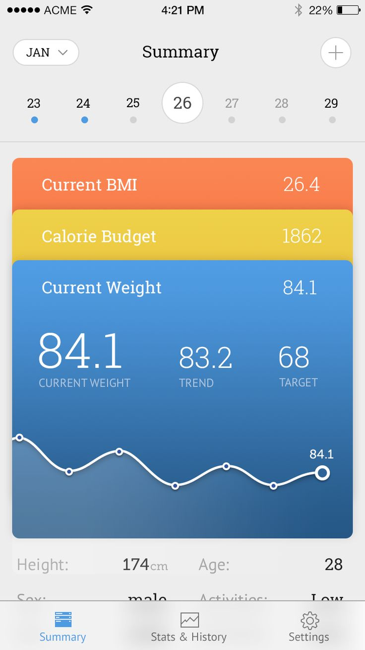 Weight tracker light