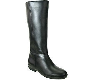 David Tate Wide Calf Leather Riding Boots - Madison 18