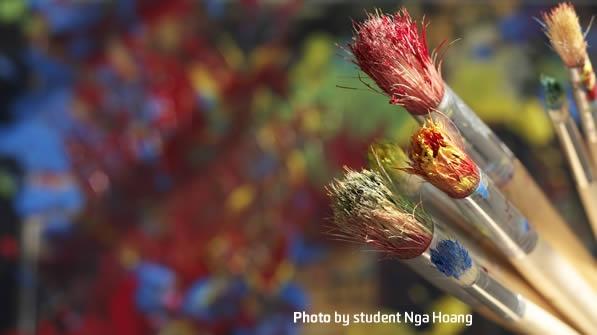 art brushes - photo by student Nga Hoang