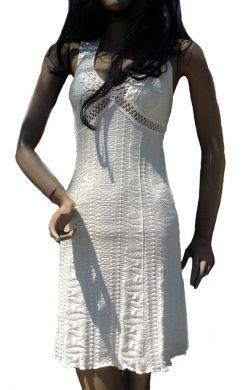 Nasca #Sommerkleid, 100% #ökologische Pima #Baumwolle, knielang.