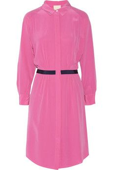 Band of Outsiders Washed silk-crepe dress | THE OUTNET