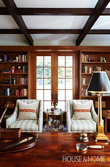 Wood-Paneled Library   Photo Gallery: Sarah Richardson Designs   House & Home   Photo by Angus Fergusson