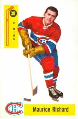 maurice richard hockey cards | 1958 Parkhurst Maurice Richard #38 Hockey Card