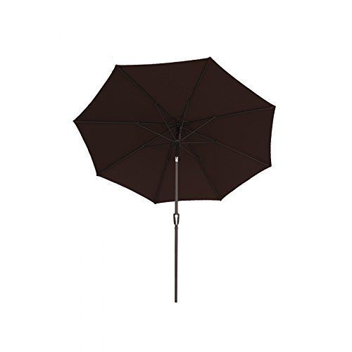 Patio Deluxe  Sunbrella 9Ft Patio Fabric Aluminum Market Umbrella with Auto Tilt and Crank  UV Resistant SunProof Waterproof Wind Resistance Fade Resistance Ideal Durable Outdoor Patio Table Umbrella  Brown -- Check out this great product.