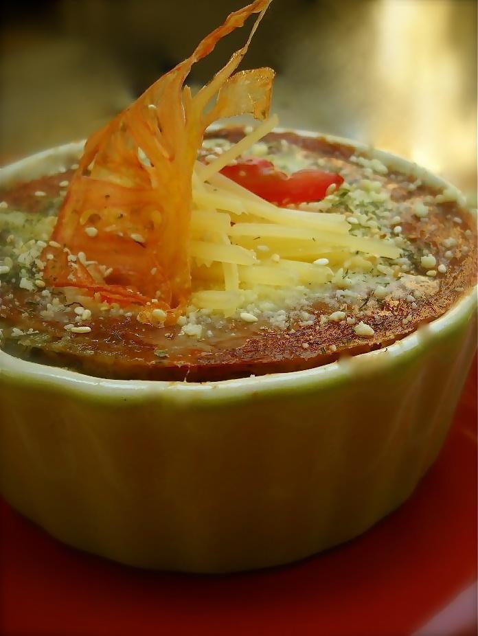 Lasagna integral de espinacas, pimiento asado, pomodoro y bechamel vegana ...
