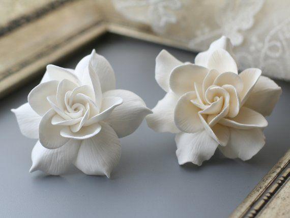 Gardenia Hair Clip Wedding Flower Hair Clip Bridal Hair Etsy In 2020 Flower Hair Clips Wedding Bridal Hair Flower Clip Wedding Hair Clips