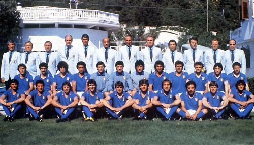 Champions of the World, 1982:  Baresi, Bergomi, Collovati, Gentile, Bordon, Zoff, Galli, Cabrini, Scirea, Vierchowod, Marini, Selvaggi; Massaro, Dossena, Conti, Rossi, Tardelli, Antognoni, Graziani, Causio, Oriali, Altobelli.