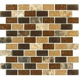 Sonoma Blend 1x2 Gl Mosaic Tiles Tile