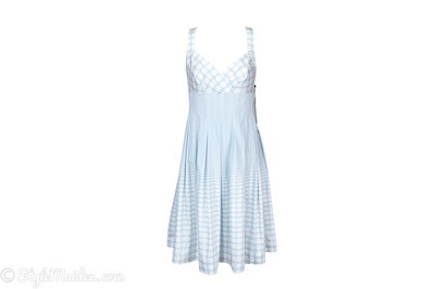 CALVIN KLEIN Polka Dot Crisscross Strap Dress at http://stylemaiden.com