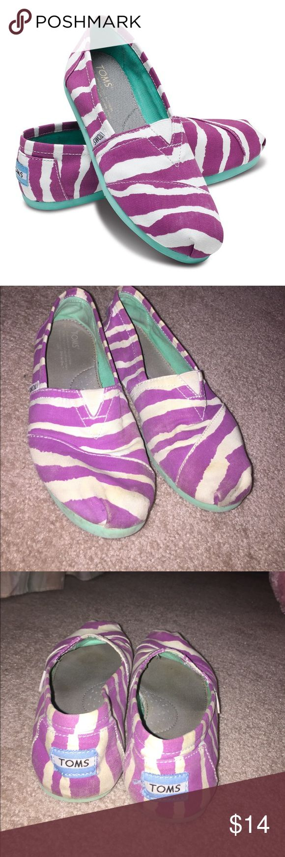 Purple zebra toms The most comfortable flats I own, perfect fitting, super stylish, used Toms Shoes Flats & Loafers
