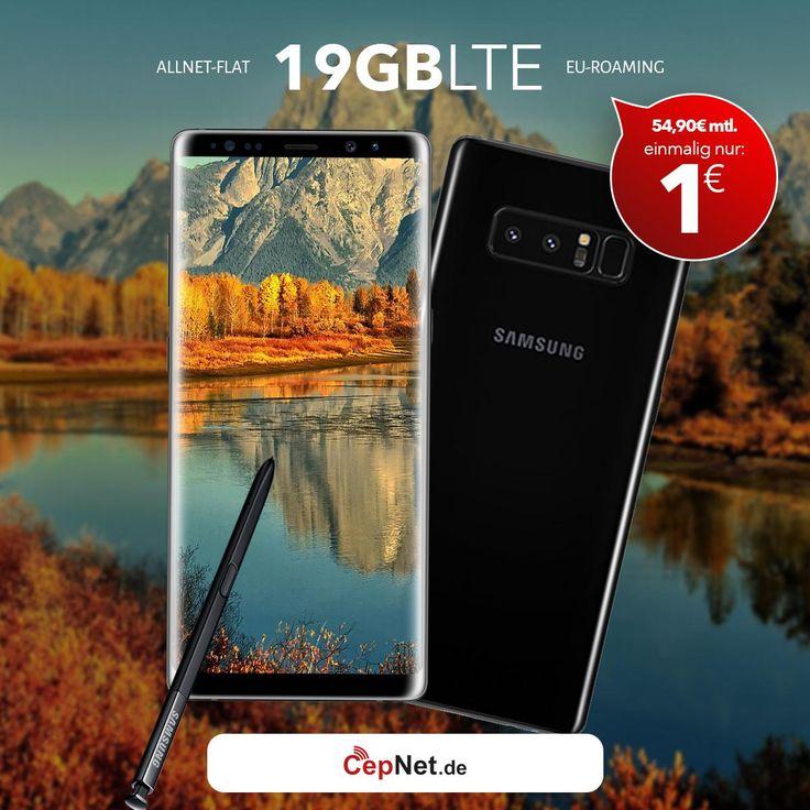 🔥🔥🔥Samsung Galaxy Note 8 64GB mit günstigem ay yildiz Ay Allnet Max + Ay Allnet Vertrag  👉👉https://www.cepnet.de/smartphones/samsung/galaxy-note-8/?utm_source=cepnet_sosyal&utm_medium=sosyal&utm_campaign=note8_19&bid=faa    ✅Telefonie-Flat* in alle dt. Handy-Netze  ✅Telefonie-Flat* ins dt. Festnetz  ✅Telefonie-Flat* ins türkische Festnetz  ✅Internet-Flat* 16 GB mit bis zu 21,6 Mbit/s (danach Drosselung auf 56 kbit/s)  ✅EU Roaming Flat** EU-weit surfen & telefonieren…